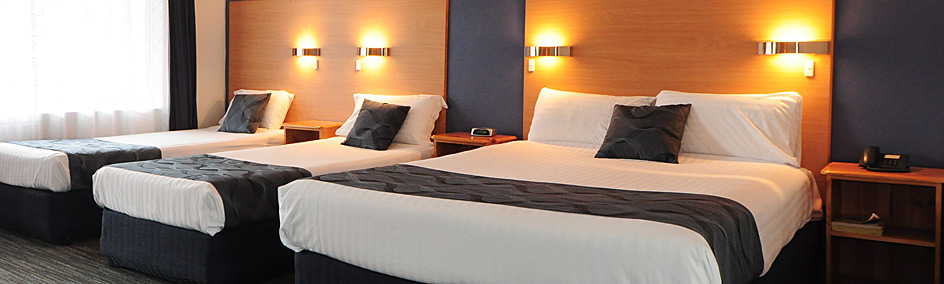 Superior family rooms are newly renovated with Queen bed & 2 singles